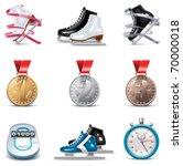 vector ice skating icon set | Shutterstock .eps vector #70000018