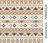 vector seamless ethnic pattern. ... | Shutterstock .eps vector #700001620