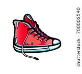 pop art illustration of red... | Shutterstock .eps vector #700003540