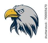 head of eagles logo  | Shutterstock .eps vector #700005670