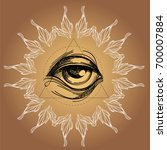 a magical eye in the style of... | Shutterstock .eps vector #700007884