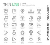 collection of game thin line... | Shutterstock .eps vector #700008094