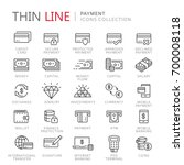 collection of payment thin line ... | Shutterstock .eps vector #700008118