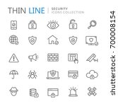 collection of security thin... | Shutterstock .eps vector #700008154
