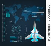 spaceships aircraft with future ... | Shutterstock .eps vector #700008670