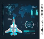 spaceships aircraft with future ... | Shutterstock .eps vector #700008850