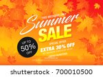 autumn sale template banner ... | Shutterstock .eps vector #700010500