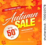 autumn sale template banner ... | Shutterstock .eps vector #700010578