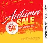 autumn sale template banner ... | Shutterstock .eps vector #700010599