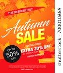 autumn sale template banner ... | Shutterstock .eps vector #700010689