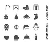 christmas icons set vector | Shutterstock .eps vector #700015084
