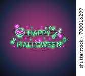 Happy Halloween Neon Sign With...