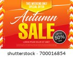 autumn sale template banner ... | Shutterstock .eps vector #700016854