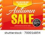 autumn sale template banner ... | Shutterstock .eps vector #700016854