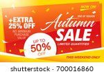 autumn sale template banner ... | Shutterstock .eps vector #700016860