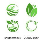 logos of green leaf ecology... | Shutterstock .eps vector #700021054