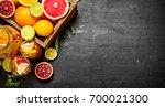 citrus background. fresh citrus ... | Shutterstock . vector #700021300