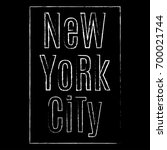 new york city. ny t shirt print ... | Shutterstock . vector #700021744
