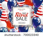 patriot day sale promotion... | Shutterstock .eps vector #700023340