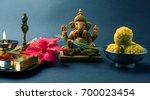 happy ganesh chaturthi greeting ... | Shutterstock . vector #700023454