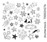 a collection of hand drawn... | Shutterstock .eps vector #700024276