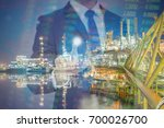 a business concept of oil and... | Shutterstock . vector #700026700