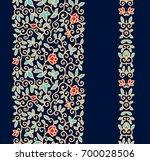 golden interlaced floral vector ... | Shutterstock .eps vector #700028506