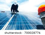 engineer working on checking... | Shutterstock . vector #700028776