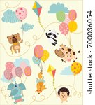 vector greeting cards with... | Shutterstock .eps vector #700036054