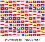 south east asia flags | Shutterstock .eps vector #700037554