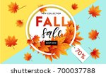 autumn sale flyer template with ...   Shutterstock .eps vector #700037788