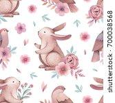 watercolor illustrations of... | Shutterstock . vector #700038568