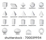 basic 3d geometric shapes.... | Shutterstock . vector #700039954
