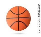 basketball ball isolated on... | Shutterstock . vector #700046488