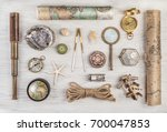 exploration and nautical theme... | Shutterstock . vector #700047853