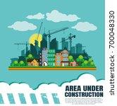 construction silhouette... | Shutterstock .eps vector #700048330