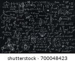 blackboard inscribed with... | Shutterstock . vector #700048423