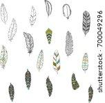 tribal boho arrow set  in... | Shutterstock .eps vector #700049296