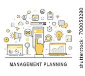 management planning. time... | Shutterstock .eps vector #700053280