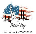 patriot day we will never... | Shutterstock . vector #700053310