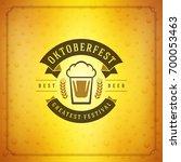 oktoberfest beer festival... | Shutterstock .eps vector #700053463