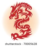 red dragon. vector illustration | Shutterstock .eps vector #70005628