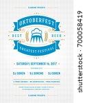 oktoberfest beer festival... | Shutterstock .eps vector #700058419