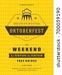 oktoberfest beer festival... | Shutterstock .eps vector #700059190
