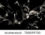 3d rendering. abstract glass... | Shutterstock . vector #700059730
