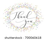 thank you words  hand written... | Shutterstock .eps vector #700060618
