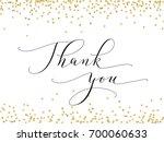 thank you words  hand written... | Shutterstock .eps vector #700060633