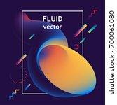 vector fluid curve shape in... | Shutterstock .eps vector #700061080