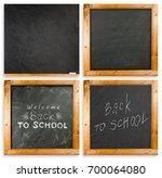 back to school handwritten with ... | Shutterstock . vector #700064080