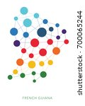dotted texture french guiana... | Shutterstock .eps vector #700065244